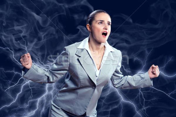 Violent femme furieux bras personne Photo stock © adam121