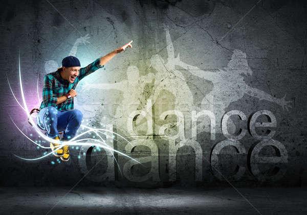 Dansçı görüntü genç dans hip-hop kolaj Stok fotoğraf © adam121