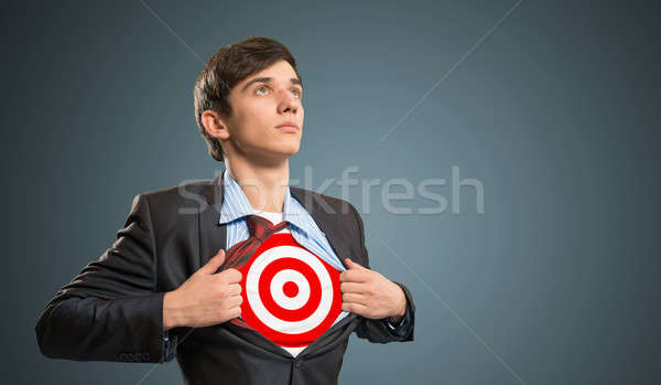 Zakenman target shirt business werk macht Stockfoto © adam121