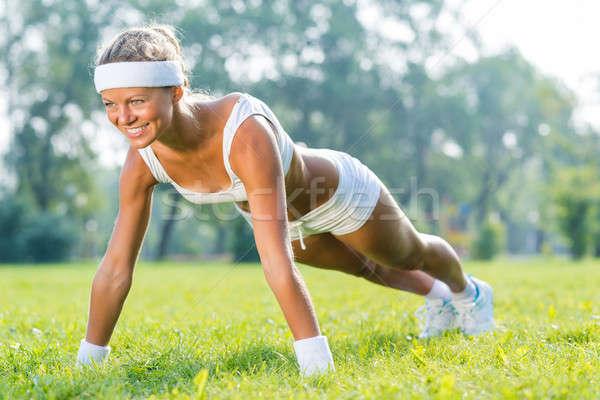 Outdoor workout Stock photo © adam121