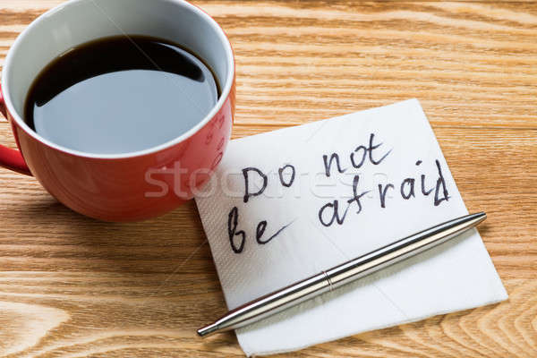 романтические сообщение написанный салфетку чашку кофе пер Сток-фото © adam121