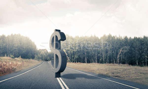 Geld Reichtum Stein Dollar Symbol Stock foto © adam121