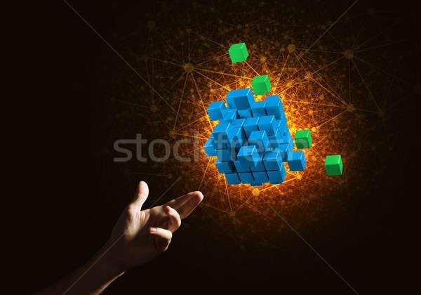 Idee nieuwe integratie kubus cijfer Stockfoto © adam121