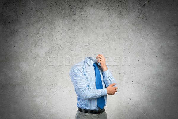 Headless pensive businessman Stock photo © adam121
