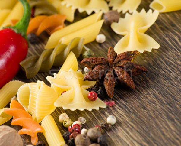 close-up of anise, around the pasta Stock photo © adam121