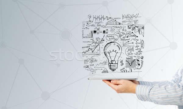 Idéia fechar ver empresário negócio Foto stock © adam121