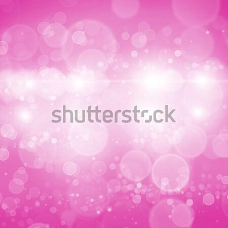 Bokeh absztrakt szín elmosódott fények hó Stock fotó © adam121