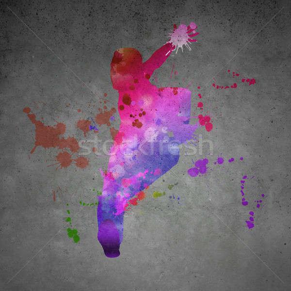 ストックフォト: 抽象的な · ダンサー · 画像 · 色 · シルエット · グレー