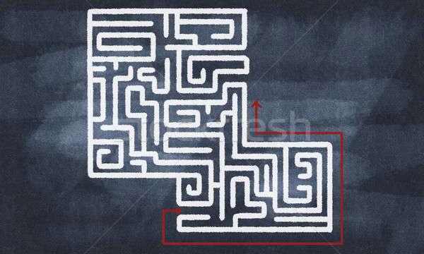 Labyrint patroon afbeelding abstract ontwerp Stockfoto © adam121
