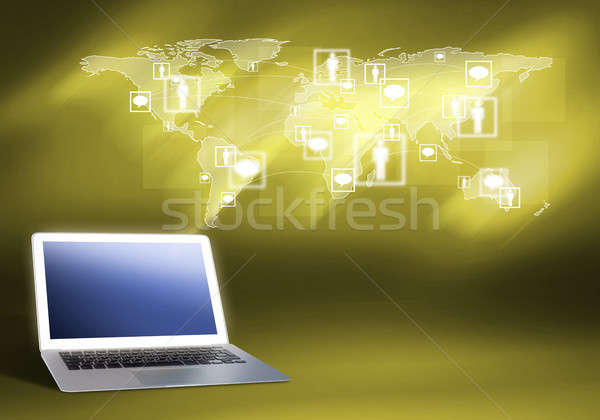 Global networking Stock photo © adam121