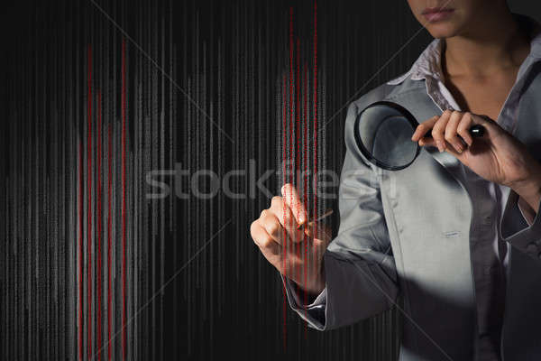 business woman edits the code Stock photo © adam121