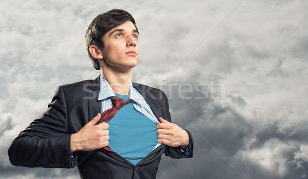 Empresário camisas azul roupa negócio Foto stock © adam121