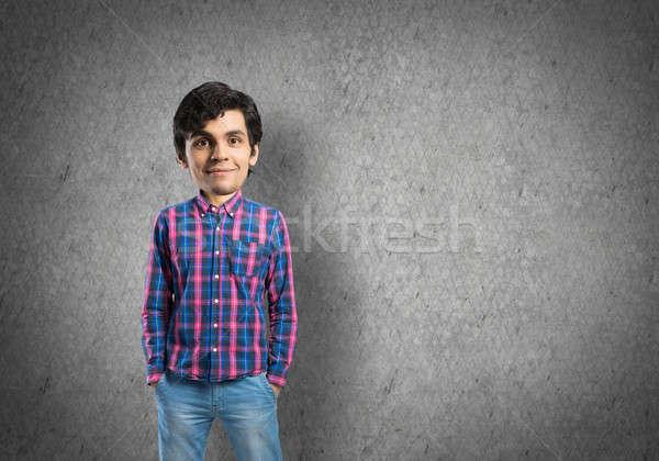 Grande testa divertente giovani uomo casuale Foto d'archivio © adam121
