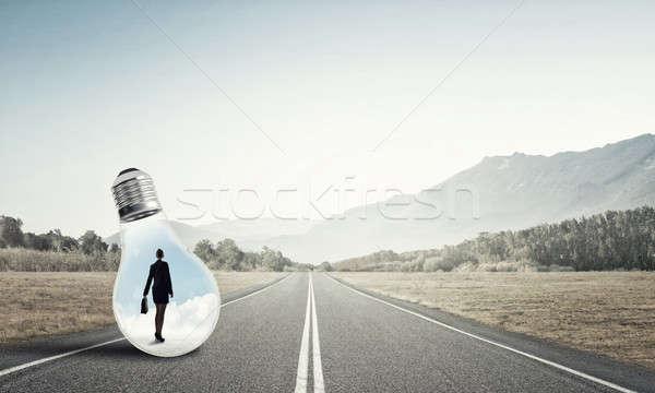 Imprenditrice giovani intrappolati asfalto Foto d'archivio © adam121