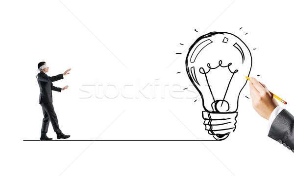 リスク 難しさ ブラインド ビジネスマン 慎重に 小さな ストックフォト © adam121