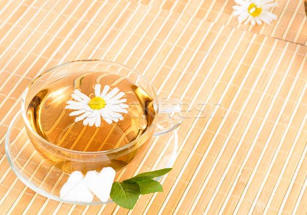 чайная чашка травяной ромашка чай цветок продовольствие Сток-фото © adam121