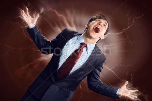 Violento hombre furioso armas persona Foto stock © adam121