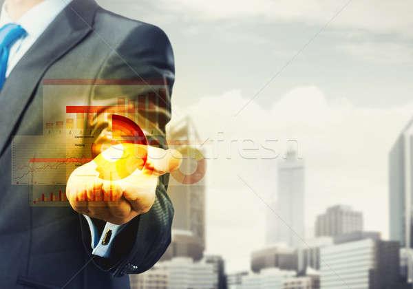 Innovador negocios empresario palma Foto stock © adam121