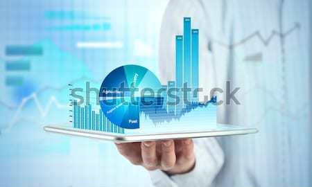 Média de vendas relatório fechar ver Foto stock © adam121
