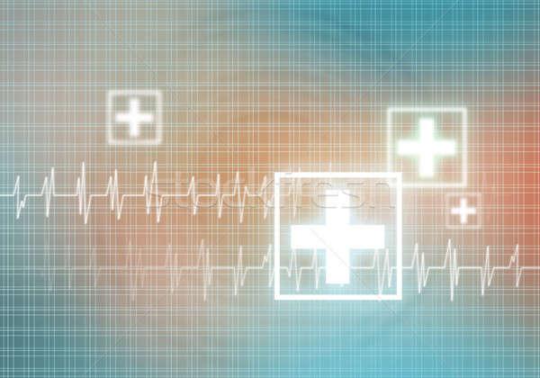 Serca opieki cyfrowe obraz kardiogram kolor Zdjęcia stock © adam121