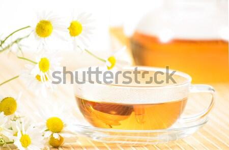 çay fincanı çay demlik gıda Stok fotoğraf © adam121