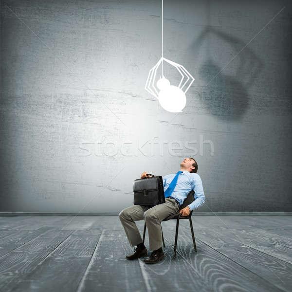 Bang zakenman jonge vergadering stoel spin Stockfoto © adam121