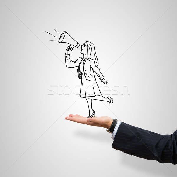 Mujer de negocios palma masculina gris negocios Foto stock © adam121