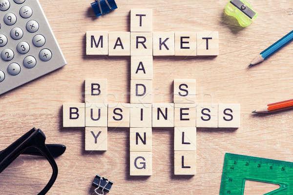 Negócio tabela elementos jogo maki palavras Foto stock © adam121