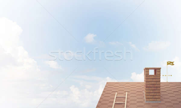 House roof as concept of suburbian real estate and construction. Stock photo © adam121