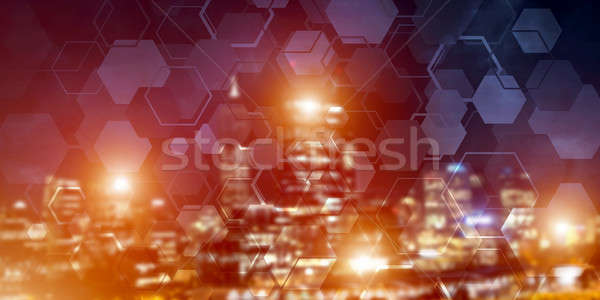 Wireless connection or networking concept as means of communication and social interaction Stock photo © adam121