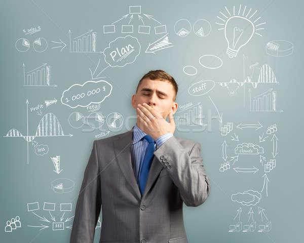 Zdjęcia stock: Biznesmen · myślenia · innowacja · działalności · obraz · zmęczony