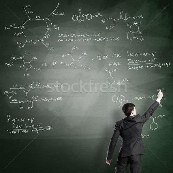 科学 書く 黒板 若い男 スーツ ストックフォト © adam121