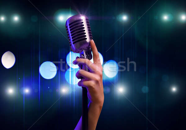 Popular singer Stock photo © adam121