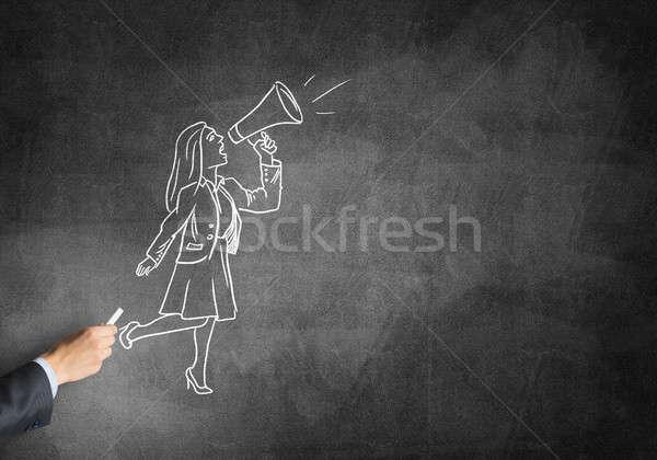 Caricature of businesswoman Stock photo © adam121