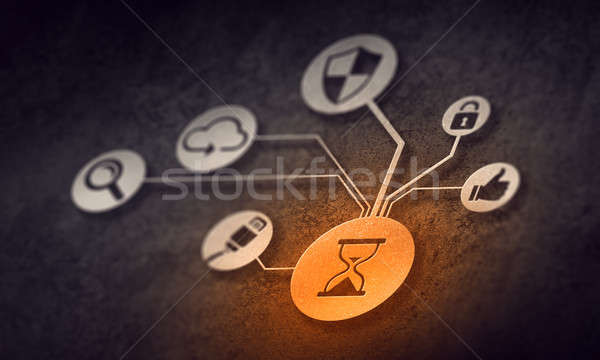 Social Media Kommunikation digitalen sozialen Wechselwirkung Verbindung Stock foto © adam121