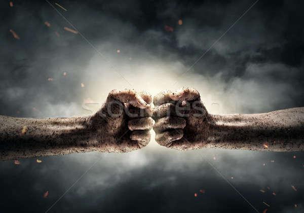 Conflicto dos otro dramático cielo Foto stock © adam121