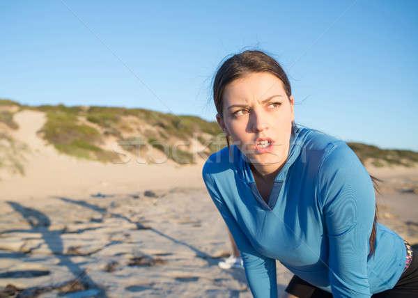 Ochtend lopen jonge actief meisje jogger Stockfoto © adam121