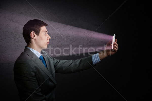 businessman with a cell phone Stock photo © adam121