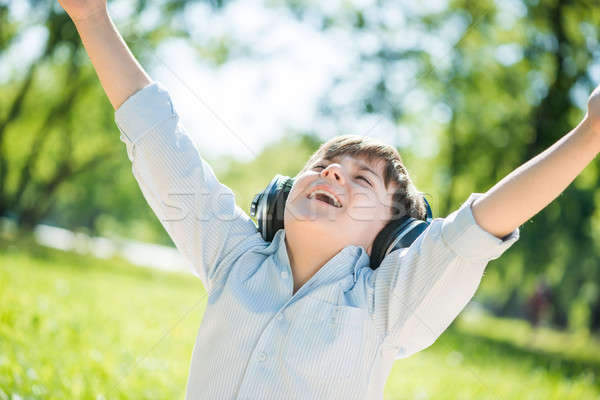 мальчика музыку молодые радостный лет Сток-фото © adam121