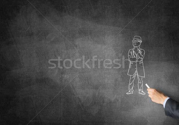 Caricature of man doctor Stock photo © adam121