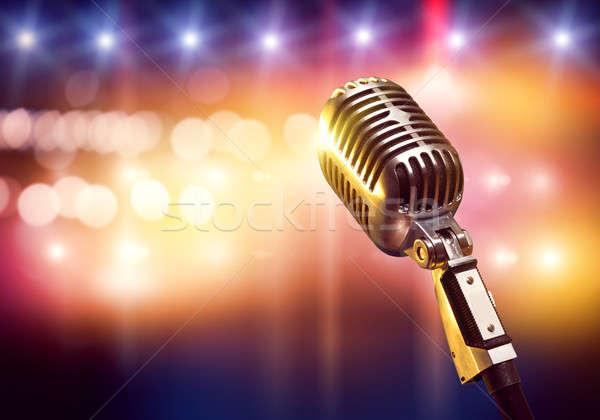 микрофона этап концерта зале расплывчатый Сток-фото © adam121