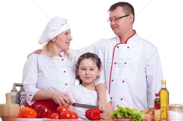 family cooking Stock photo © adam121