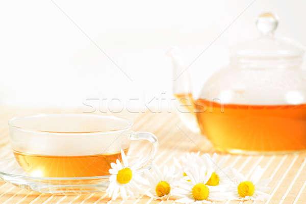 çay fincanı çay demlik tıbbi Stok fotoğraf © adam121