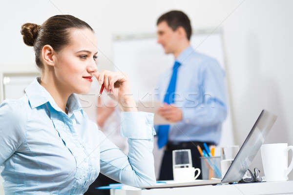 portrait of a business woman Stock photo © adam121