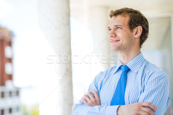 successful young businessman smiling Stock photo © adam121