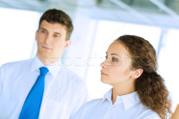 Işadamları toplantı flipchart iş Stok fotoğraf © adam121