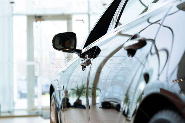 現代 車 高価な 黒 ショールーム ビジネス ストックフォト © adam121