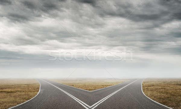 Asphalte image naturelles paysage route Photo stock © adam121