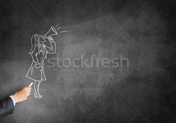 карикатура женщину врач мужчины стороны рисунок Сток-фото © adam121