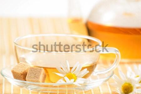 чайная чашка травяной ромашка чай чайник продовольствие Сток-фото © adam121